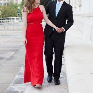 Badgely Mischka Red Keena Gown